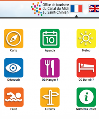 borne d'information touristique-écran d'accueil