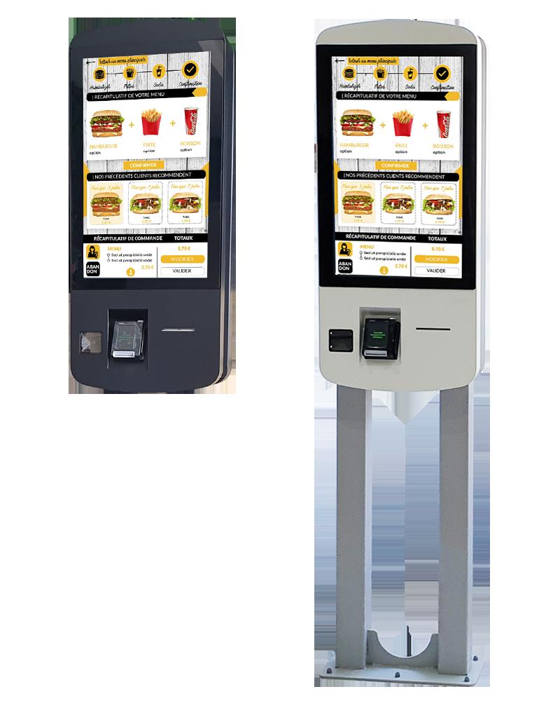 borne tactile-27 pouces-calista-fast-food-version murale ou sur pied